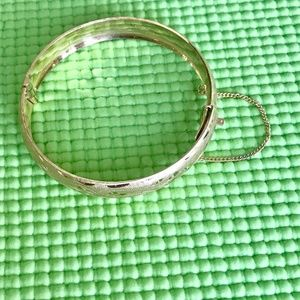 Jewelry - NWOT SMALL Gold Plated Hinged Bangle Bracelet